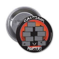 Caution Monster! Button.  Look for more items in my store.  Designs by DonnaSiggy.  All graphic designs are copyrighted on my products. #Halloween #holiday #button  #pinoftheday #zazzle #gifts #trendy www.zazzle.com/designsbydonnasiggy?rf=238713599140281212