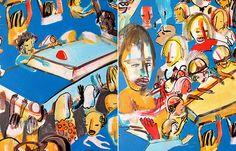 Obras de arte coloridas e urbanas. Artista Tec.