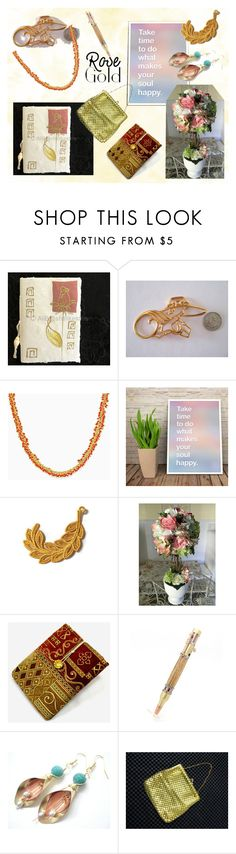 Rose Gold will Make Your Soul Happy by owlartshop on Polyvore featuring Remington, rosegold, giftidea and EtsyTeamUnity