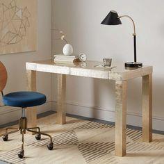 """Parsons Desk - Champagne, $499, 48""""w x 24""""d x 30""""h."""