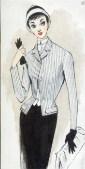 配色の研究 「それいゆ」 第36号原画 1955年