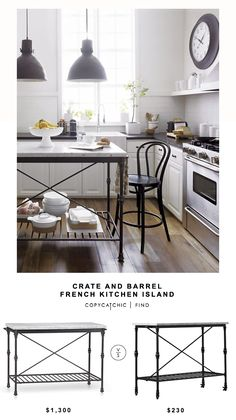 Crate and Barrel French Kitchen Island | Copy Cat Chic | Bloglovin'