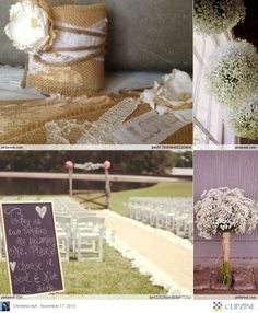 Could prob'ly utilize some of these ideas for Christmas, too. VBo -  Burlap Wedding Ideas
