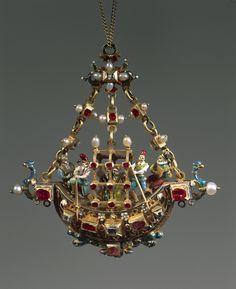 Pendentif Rubis, Diamants, Perles, Émail, Or XVI ème siècle Credit: DEA / A. DAGLI ORTI / The Granger Collection. ©Assouline