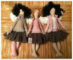 Manufaktura Aniołów (fb) / tilda angels / doll angels / sweet angels / curly hair angel / sewing doll