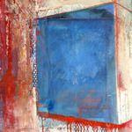 "brenda holzke - ""Visibly Transparent"",  collage & mixedmedia, 24x 36"