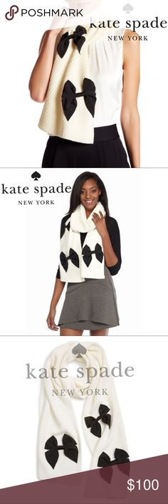 NWOT ♠️kate spade♠️ diagonal rib muffler Was a Christmas gift, wore it once kate spade Accessories Scarves & Wraps