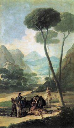 """Francisco de Goya: """"La caída"""". Oil on canvas, 169 x 98 cm, 1786-87. Private collection"""
