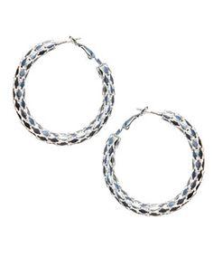 Silver Hoop Earrings from Charming Charlie