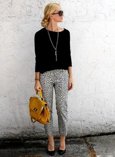 Patterned pants are a great way to mix up your everyday look!