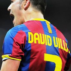 David Villa, FC Barcelona damn shame hes not at FCB anymore. he was one of my favorite players
