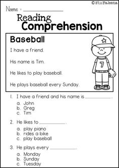 Free Reading Comprehension is great for Kindergarten or first graders. It helps teach children in reading and comprehension. You can use as a class time worksheet or homework. Education Quotes For Teachers, Quotes For Students, Quotes For Kids, Kindergarten Reading, Kindergarten Worksheets, Reading Comprehension Worksheets, Help Teaching, Free Reading, Literacy Centers