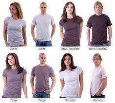 T-shirt Free mockup templates (multicolors) -