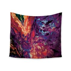 "Mary Bateman ""Passion Flowers II"" Wall Tapestry"