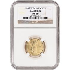 1988-W Olympics Modern Gold Commemorative $5 Ultra Cameo in NGC Proof PF 70