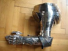 NauticalMart Medieval Knight Reenactment Larp Arm Guard Armor Costume Re-enactment / LARP / role-play / theater Medieval Steel Arm Guard These Arm Guards Are Hand Made In 18 Gauge Steel Great For LARP, Halloween, Theatrical Play, Fantasy, Hist. Medieval Knight, Medieval Armor, Medieval Fantasy, Fantasy Armor, Fantasy Weapons, Female Armor, Armadura Medieval, Pauldron, Knight Armor