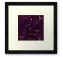 Framed Print. Inspired by rought Amethyst crystals. Geometric Abstract pattern in Purple and gold shimmers. Find this pattern in different products, such as: apparel, fashion accessories, stationary, gift ideas, mugs, wall art, home decor and much more!