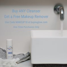 NuGlow Skincare - Where Science, Health and Beauty Intersect. Make Up Remover, One Time, Free Makeup, Cleanser, Health And Beauty, How To Remove, Coding, Skin Care