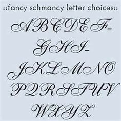 Free Fancy Cursive Tatto Letters To Locate A Pin Tattoo Fonts