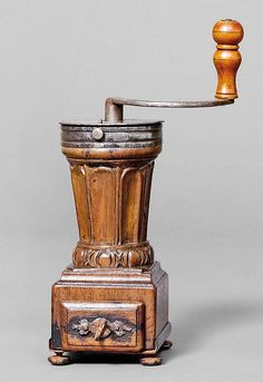 COFFEE MILL, France, 1st half of 18th c. Walnut - by Koller Auctions