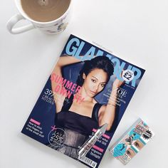 Friday Morning Vibes...Coffee & reading up on the latest issue of @glamouruk This month you get a free @benefitcosmeticsuk mini Gimme Brow #glamourmagazine #Wowbrows #gimmebrow #Benefitbrows #fridayfeeling #HappyFriday #TGIF #coffeetime #goodmorning #Glamour #zoesaldana #UKblogger #bblogger #fblogger #mua #makeup #morningmotivation #Fridayvibes #inspiration #instadaily #instagood
