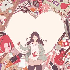 Uploaded by Find images and videos about girl and anime on We Heart It - the app to get lost in what you love. Manga Girl, Anime Manga, Anime Art, Anime Girls, Character Illustration, Illustration Art, Illustrations, Oriental, Gay Art