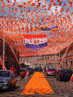 Decorated Street in the Netherlands , World Cup 2014