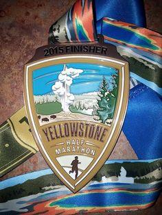 Yellowstone Half Marathon #bling - 50 States half Marathon club member bling - www.50stateshalfmarathonclub.com