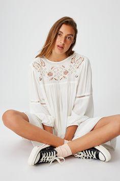 White Mini Dress, New Image, Smocking, Beautiful Dresses, Blouse, Cotton, Women's Dresses, Jumpsuits, Rompers