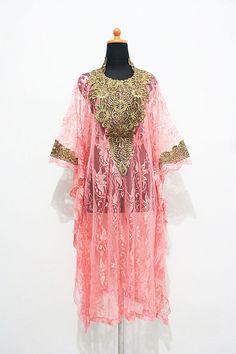 Moroccan pink brocade kaftan gold embroidery DUbai by aboyshop, $38.88