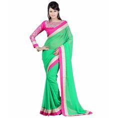 Excellent Sky-GreenN Sangeet Sarees