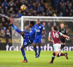 The 22-year-old Ghana international, former Copenhagen midfielder Amartey clears for the home team on Saturday