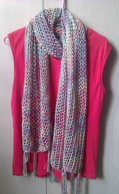 Purl Strings by Lana Jois, beautiful in silk This pattern is available as a… Prayer Shawl Crochet Pattern, Lace Knitting Patterns, Knitting Ideas, Scarf Patterns, Knit Or Crochet, Crochet Scarves, Knitting Socks, Hand Knitting, Knitting Needles