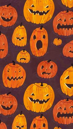 Halloween Pumpkins Pattern iPhone 5s wallpaper Fall Wallpapers For Iphone, Autumn Iphone Wallpaper, Halloween Wallpaper Iphone, Fall Backgrounds Iphone, Desktop Wallpapers, Halloween Backgrounds, Holiday Wallpaper, Sea Wallpaper, Pattern Wallpaper