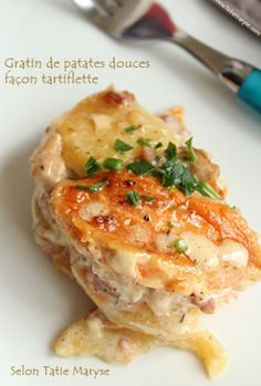 Recette du gratin de patate douce aux lardons, selon Tatie Maryse