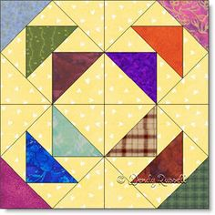 TOAD IN THE PUDDLE quilt block