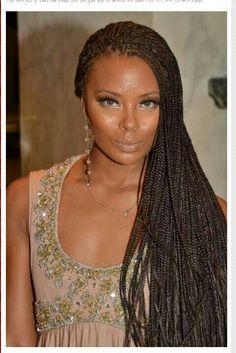 Thin box braids