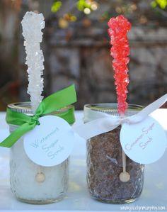 Cinnamon Sugar Scrub and Wintermint Sugar Scrub