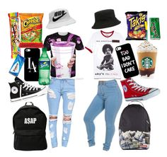 """""""back too school """" by veeegirl ❤ liked on Polyvore featuring 21 Men, ASAP, Converse and Casetify"""