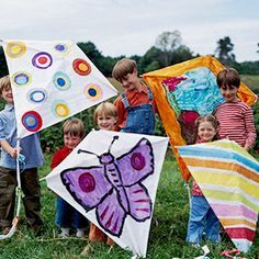 Easy to make and a blast to decorate, these kites are for fun in the sun.