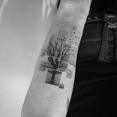 Balazs Bercsenyi minimalistic abstraction tattoo | Минималистические абстрактные тату