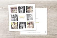 carte de remerciement mariage simple 8 photos by Sibylle Derkenne pour www.rosemood.fr #wedding #merci