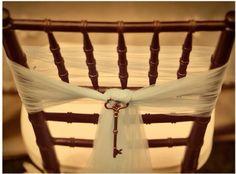 Alice in wonderland wedding chair tie
