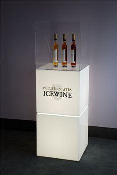 Acrylic & LED Wine Pedestal Display