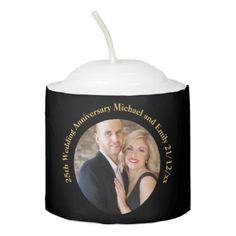 PHOTO ANNIVERSARY Candle - Gifts Under $6 - anniversary cyo diy gift idea presents party celebration