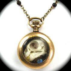 Steampunk Skull Necklace OSSUARY RELIC with by NouveauMotley. , via Etsy.