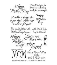 Mother's Day Acrostic Poem Card Make your own Mother's Day