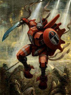 Warhammer - The Tau - Farsight Enclaves - Commander Farsight Warhammer 40k Art, Warhammer Fantasy, Tau Battlesuit, Empire Tau, Tau Army, Far Future, Tecno, Fantasy Armor, The Grim