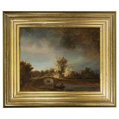 Buy Rijksmuseum, Rembrandt Harmensz. van Rijn - The Stone Bridge Framed Print, 29 x 34cm Online at johnlewis.com