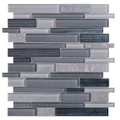 Jeffrey Court, Platinum Pearl Pencil 12 in. x 12 in. Quartz and Glass Mosaic Wall Tile, 99602 at The Home Depot - Mobile